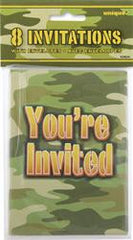 Camo Army Party Invites