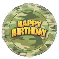 Camo Happy Birthday Foil Balloon