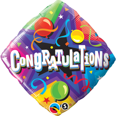 Congratulations Diamond Shape Foil Balloon
