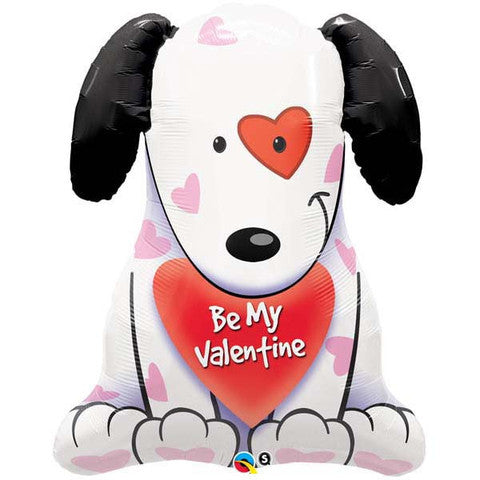 Be My Valentine Puppy Supershape Foil Balloon