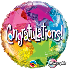 Congratulations Star Foil Balloon