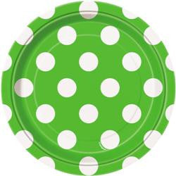 Lime Green Dot Small Plates
