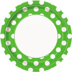 Lime Green Dot Large Plates