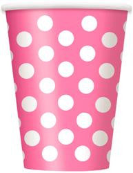 Hot Pink Dot Cups