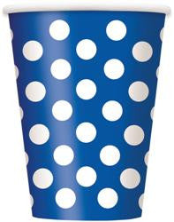 Royal Blue Dot Cups