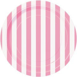 Light Pink Stripe Small Plates