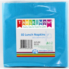 Azure Blue Lunch Napkins
