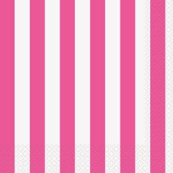 Hot Pink Stripe Napkins
