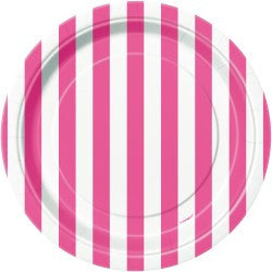 Hot Pink Stripe Small Plates