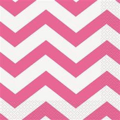 Hot Pink Chevron Napkins