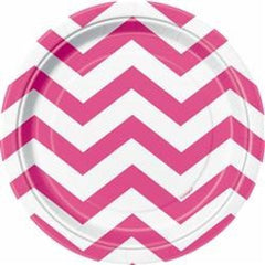 Hot Pink Chevron Small Plates