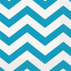 Teal Chevron Napkins