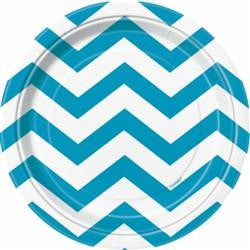 Teal Chevron Small Plates