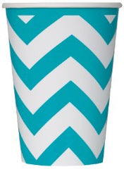 Teal Chevron Cups