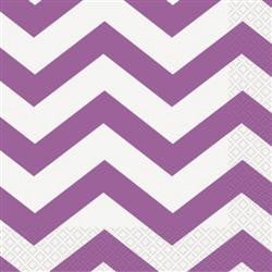Purple Chevron Napkins