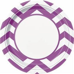 Purple Chevron Large Plates