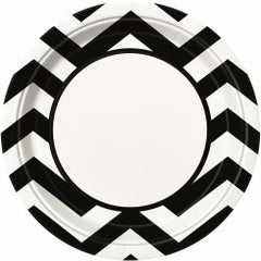 Black Chevron Large Plates