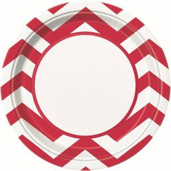 Red Chevron Large Plates