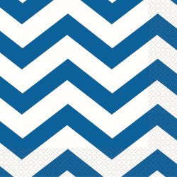 Royal Blue Chevron Napkins