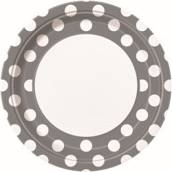 Silver Dot Large Plates