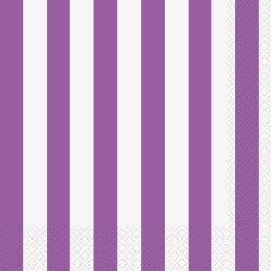 Purple Stripe Napkins