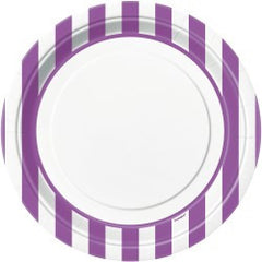 Purple Stripe Large Plates
