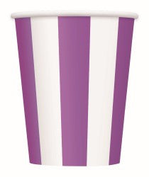 Purple Stripe Cups