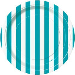 Teal Stripe Small Plates