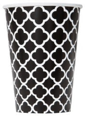 Black Quatrefoil Party Cups