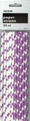 Purple Dot Paper Straws