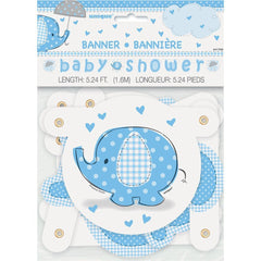 Baby Shower Banner Blue Elephant