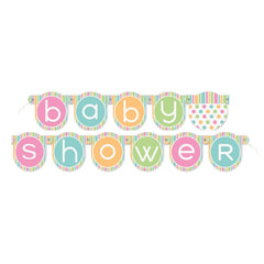 Baby Shower Banner Multi Coloured