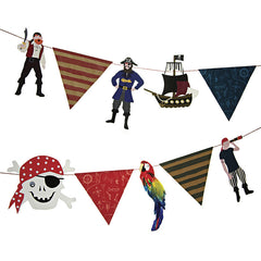 Ahoy There Pirate Garland Decoration