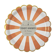 Toot Sweet Orange Stripe Plates