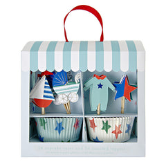 Baby Shop Blue Cupcake Kit