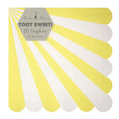 Toot Sweet Yellow Stripe Napkins