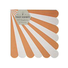 Toot Sweet Orange Stripe Napkins