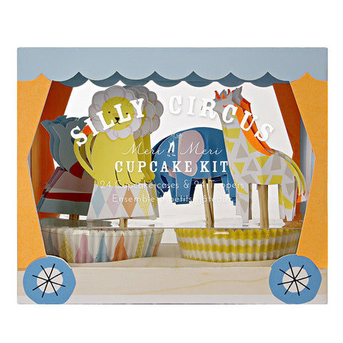 Silly Circus Boxed Cupcake Kit