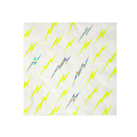 Zap! Superhero Lightning Napkins