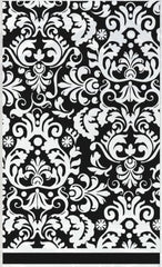 Black Damask Plastic Table Cover