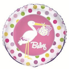 Baby Pink Stork Foil Balloon
