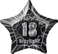 Happy 18th Birthday Foil Star Balloon