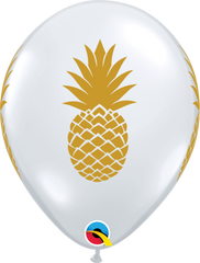 Clear with Gold Pineapple Balloons