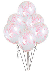 Light Pink Confetti Balloons