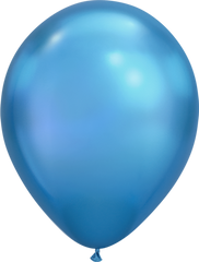 Chrome 11' Balloons Blue
