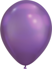 Chrome 11' Balloons Purple