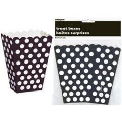 Black Dot Popcorn & Treat Boxes