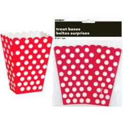Red Dot Popcorn & Treat Boxes