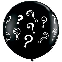"36"" Black Question Mark Balloon"