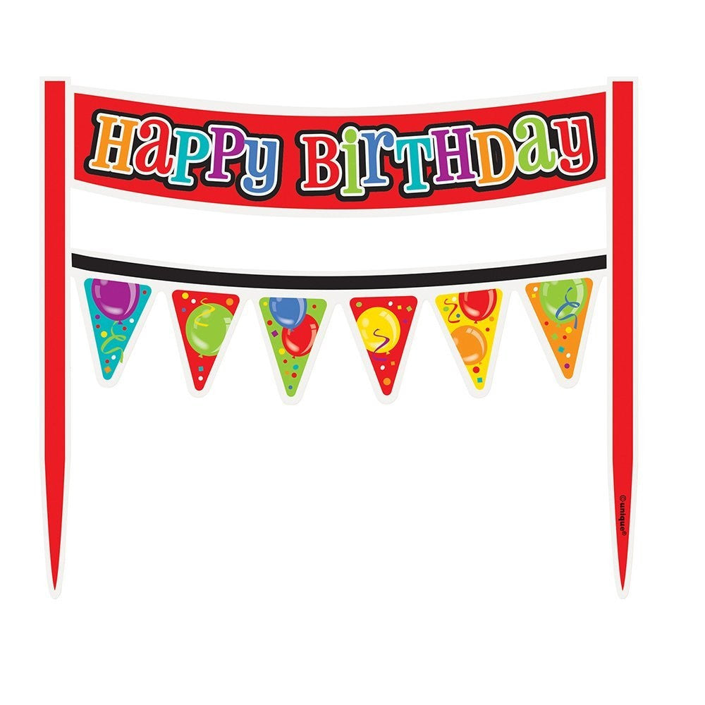 Happy Birthday Balloon Cake Banner